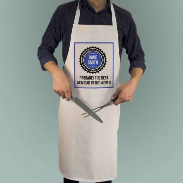 Probably The Best New Dad In The World Apron